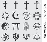 religion icons | Shutterstock .eps vector #373394365