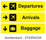 airport sign . vector... | Shutterstock .eps vector #373396234