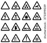 hazard sign set for biological... | Shutterstock .eps vector #373399039