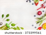 smoothies and fresh ingredients ... | Shutterstock . vector #373399561