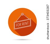 for rent icon. advertising... | Shutterstock . vector #373403287