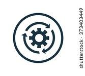 settings reload icon  on white...   Shutterstock . vector #373403449