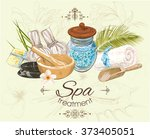 spa treatment banner on graphic ... | Shutterstock .eps vector #373405051