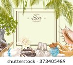 tropic style spa treatment... | Shutterstock .eps vector #373405489