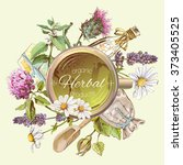 natural treatment round banner... | Shutterstock .eps vector #373405525