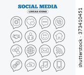 social media icons. speech... | Shutterstock . vector #373410451