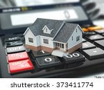 mortgage calculator. house on... | Shutterstock . vector #373411774
