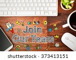 join our team concept with... | Shutterstock . vector #373413151