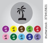 palm icon | Shutterstock .eps vector #373415821