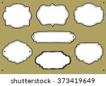 collection of hand drawn frames ...   Shutterstock .eps vector #373419649
