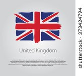 united kingdom flag with... | Shutterstock .eps vector #373424794