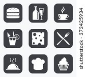 food  drink icons. coffee and... | Shutterstock . vector #373425934