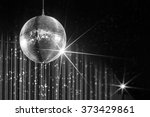 party disco ball with stars in... | Shutterstock . vector #373429861
