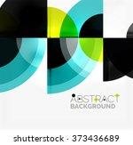 geometric design abstract... | Shutterstock .eps vector #373436689