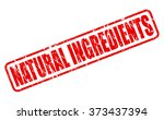 natural ingredients red stamp... | Shutterstock .eps vector #373437394