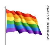 Rainbow Flag. Vector.