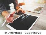 website designer working blank...   Shutterstock . vector #373445929