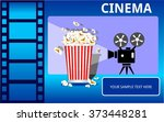 cinema tv entertainment... | Shutterstock .eps vector #373448281