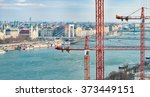 panorama of budapest with... | Shutterstock . vector #373449151