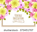 vintage delicate invitation... | Shutterstock . vector #373451707
