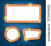 electric bulbs billboard. retro ... | Shutterstock .eps vector #373455835