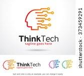 think tech logo design template  | Shutterstock .eps vector #373459291