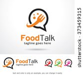 food talk logo design template  | Shutterstock .eps vector #373459315