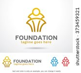 foundation logo design template  | Shutterstock .eps vector #373459321