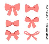 set of pink vintage gift bows... | Shutterstock .eps vector #373460149