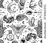 seamless pattern of ornamental... | Shutterstock .eps vector #373462351