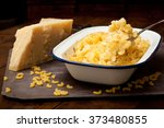 home made macaroni and cheese... | Shutterstock . vector #373480855