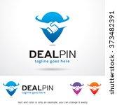 deal pin logo design template  | Shutterstock .eps vector #373482391