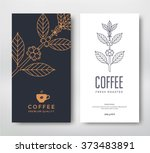packaging design for coffee.... | Shutterstock .eps vector #373483891