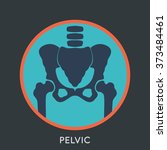 pelvic logo vector | Shutterstock .eps vector #373484461