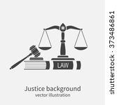 symbol of law and justice.... | Shutterstock .eps vector #373486861