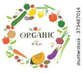 illustration set vegetables.   Shutterstock .eps vector #373487014