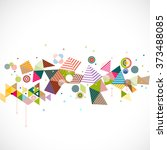abstract geometrical template... | Shutterstock .eps vector #373488085
