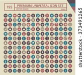 195 premium universal web icon... | Shutterstock .eps vector #373491265