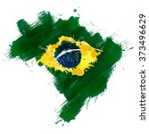 grunge map of brazil with... | Shutterstock .eps vector #373496629
