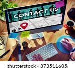 contact us assistance business... | Shutterstock . vector #373511605