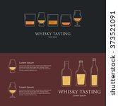 whisky tasting event or party...   Shutterstock .eps vector #373521091