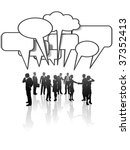 a group or team of business... | Shutterstock .eps vector #37352413