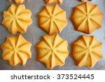 homemade freshly butter cookies ...   Shutterstock . vector #373524445