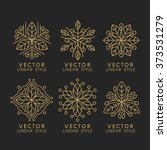 vector set of linear design... | Shutterstock .eps vector #373531279