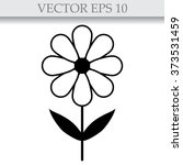 silhouettes of simple vector... | Shutterstock .eps vector #373531459