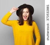 positive cheerful young teen... | Shutterstock . vector #373532881