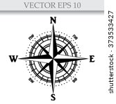 Illustration Of A Compass Rose