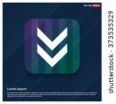 vector down arrow icon. vector... | Shutterstock .eps vector #373535329