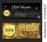 gift voucher. vector ... | Shutterstock .eps vector #373535827