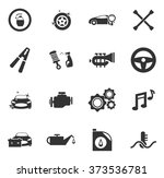 car shop  icon set for web... | Shutterstock .eps vector #373536781